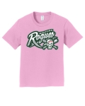 Medford Rogues Full Logo Candy Pink T-Shirt